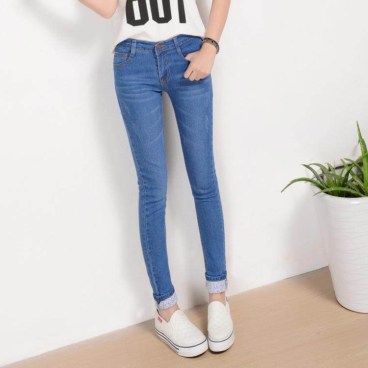 (PreOrder14 Days  JYS Fashion Korean Style Women Jeans Pant Collection-521963col521-963--Light Blue -32