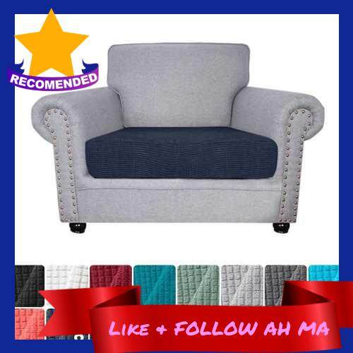 Best Selling Sofa Seat Slipcovers Couch Cushion Covers 1 Seater Stretch Spandex Non Skid Jacquard Fabric Furniture Protector Washable (Dark Blue) (Dark Blue)