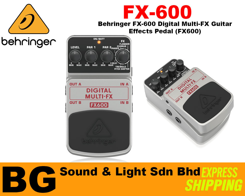 [SHIP OUT EVERYDAY]Behringer FX-600 Digital Multi-FX Guitar Effects Pedal (FX600)