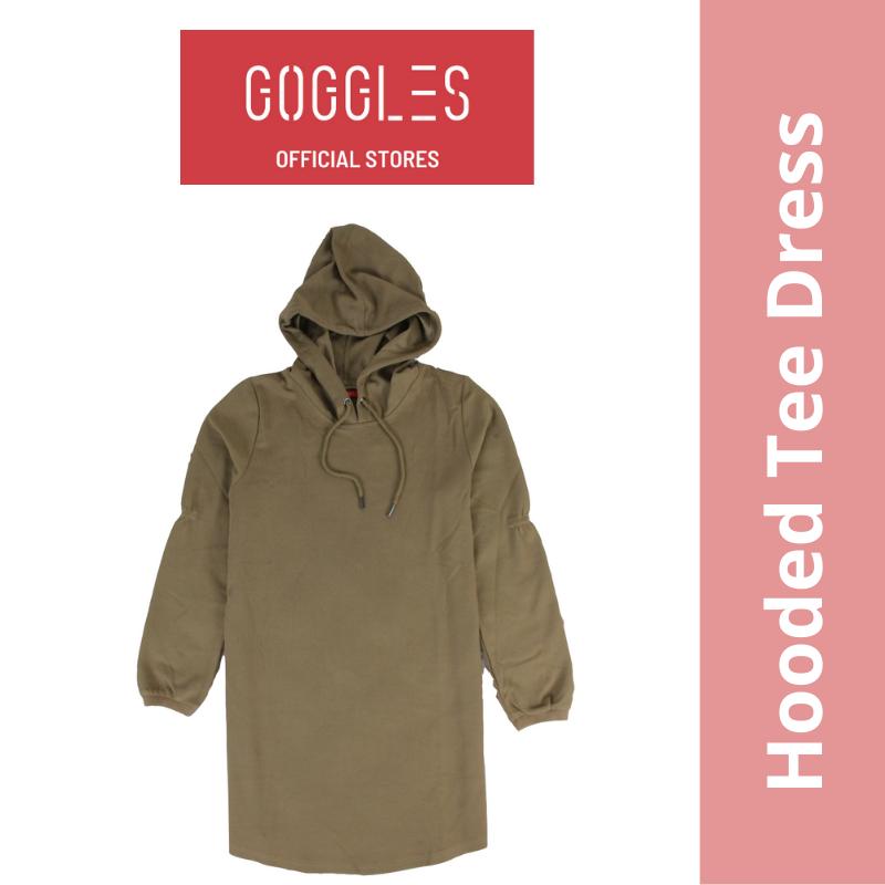 GOGGLES Ladies Long Sleeve Hoodie T Shirt Dress 120606