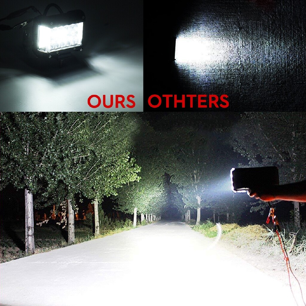 Car Lights - 2x 90W LED Work Light Bar Side Shooter Pods Driving Fog Lamp Off Road Truck SUV - Replacement Parts