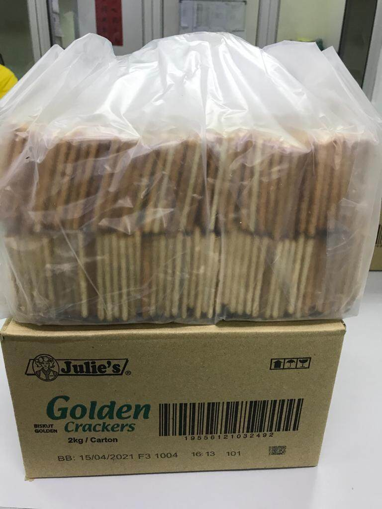 Julie's Golden Crackers 2KG/Carton x 2