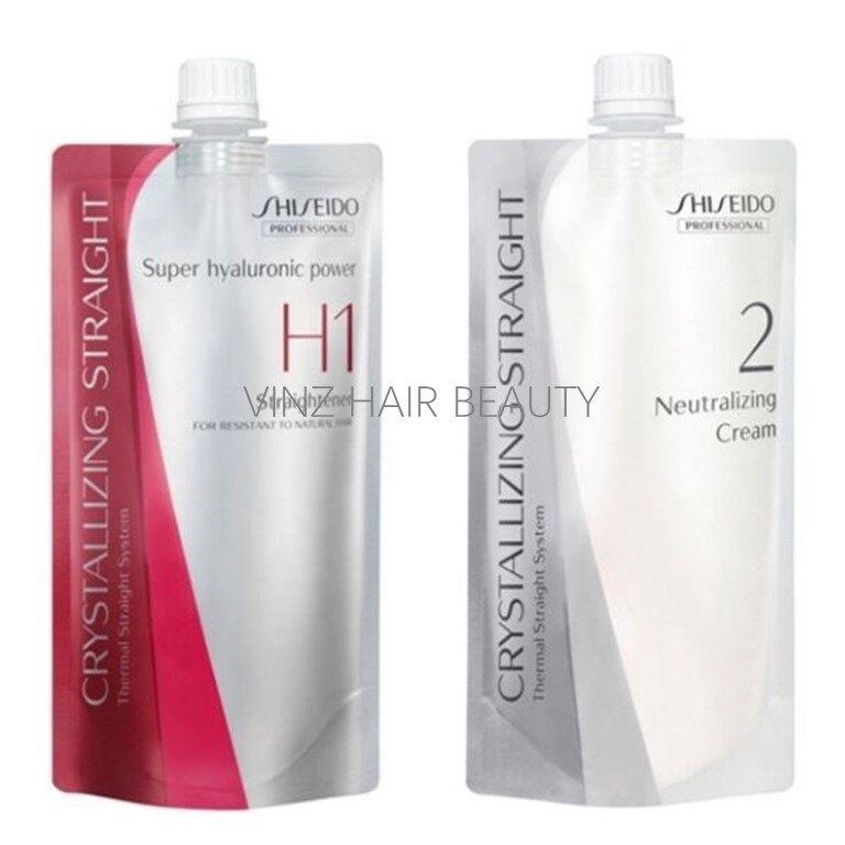 Shiseido Crystallizing Straight H1 Rebonding & Neutralizer Cream 400ml + 400ml
