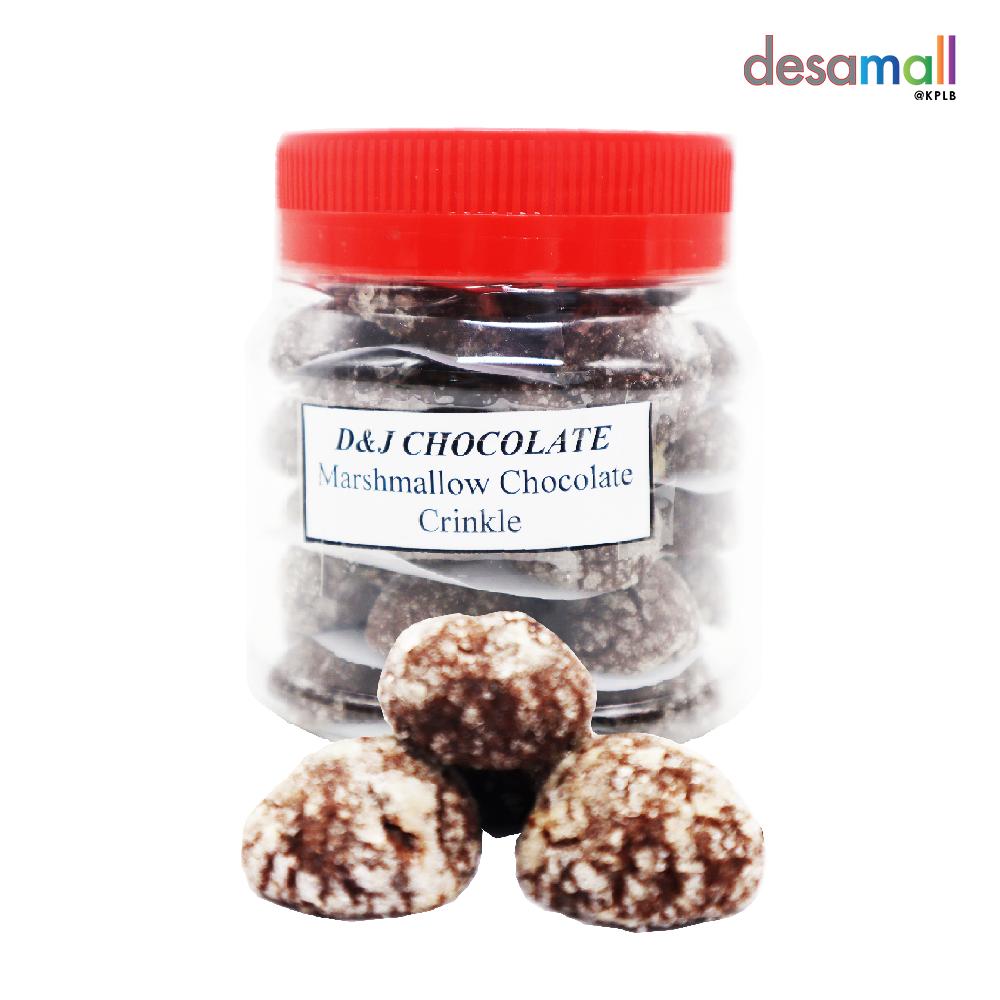 D&J HANDMADE CHOCOLATE Marshmallow Chocolate Crinkle