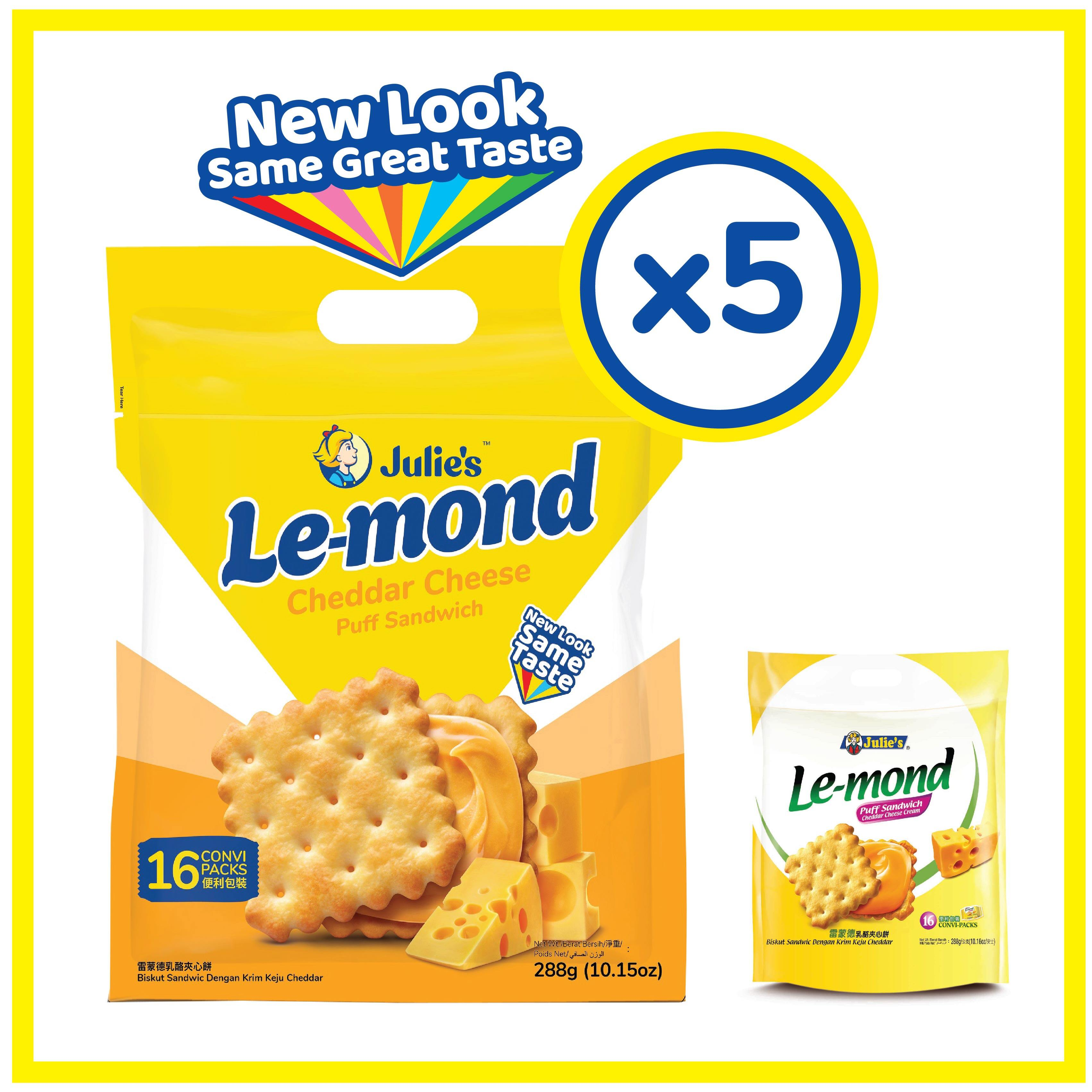 Julie's Le-mond Cheddar Cheese 288g x 5 pack