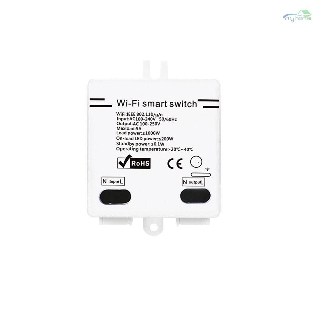 DIY Tools - WI-FI Smart Switch 5A/1000W WIRELESS Switch with Timing Function Remote Controller for - WHITE