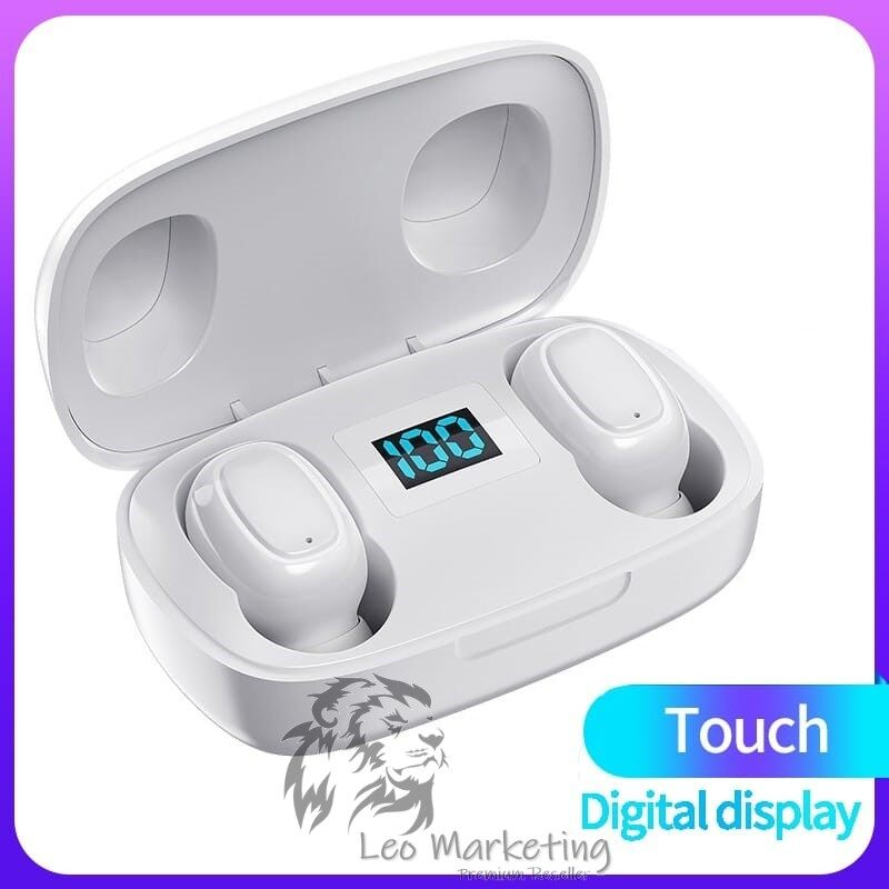 Leo Marketing 100% Original Wireless Earphone Bluetooth 5.0 TWS Android Iphone Universal 9D holographic Sound