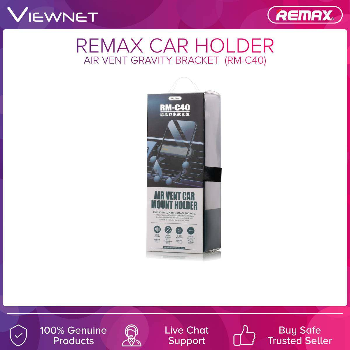 Remax (RM-C40) Car Holder Air Vents Gravity Bracket