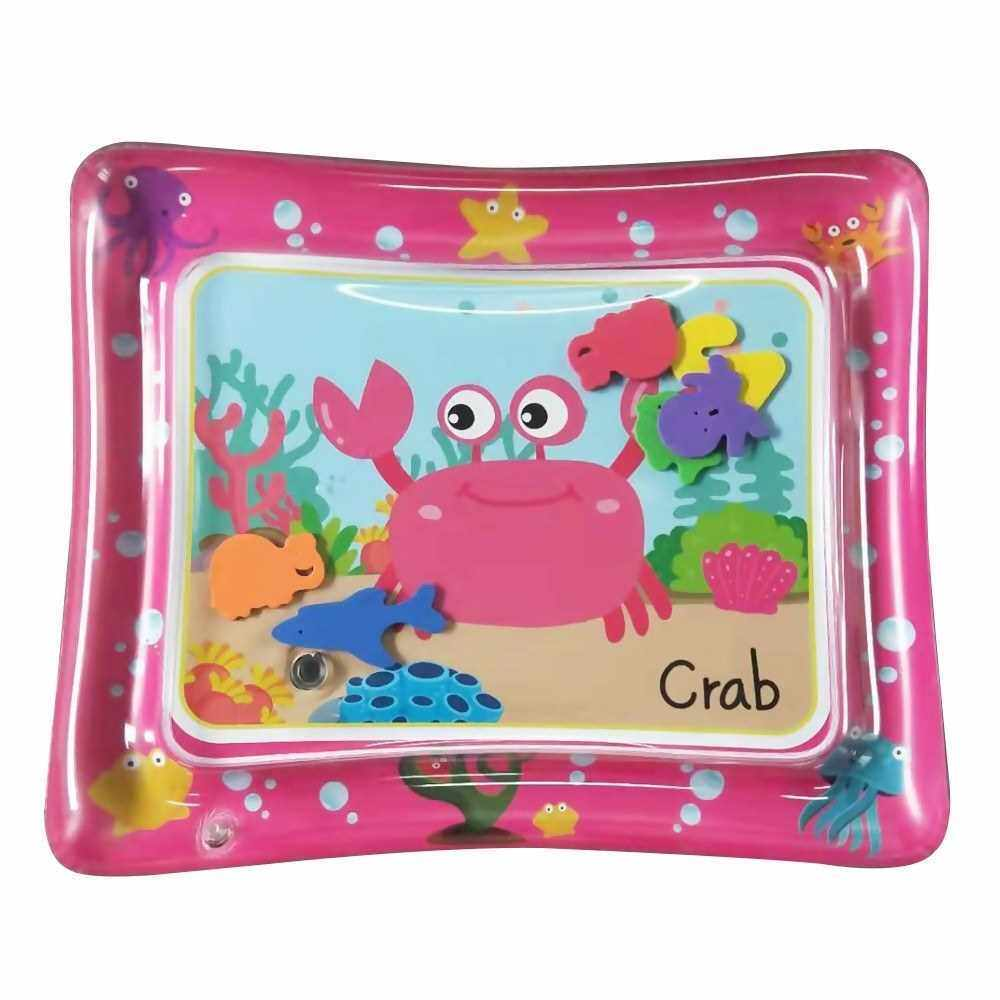 50 * 60cm Baby Colorful Inflatable Water Play Mat Tummy Time Infant Fun Mat Child Development Play Center with Hand Inflator Pump for 4~6 Years Old Infants--Pink (Standard)