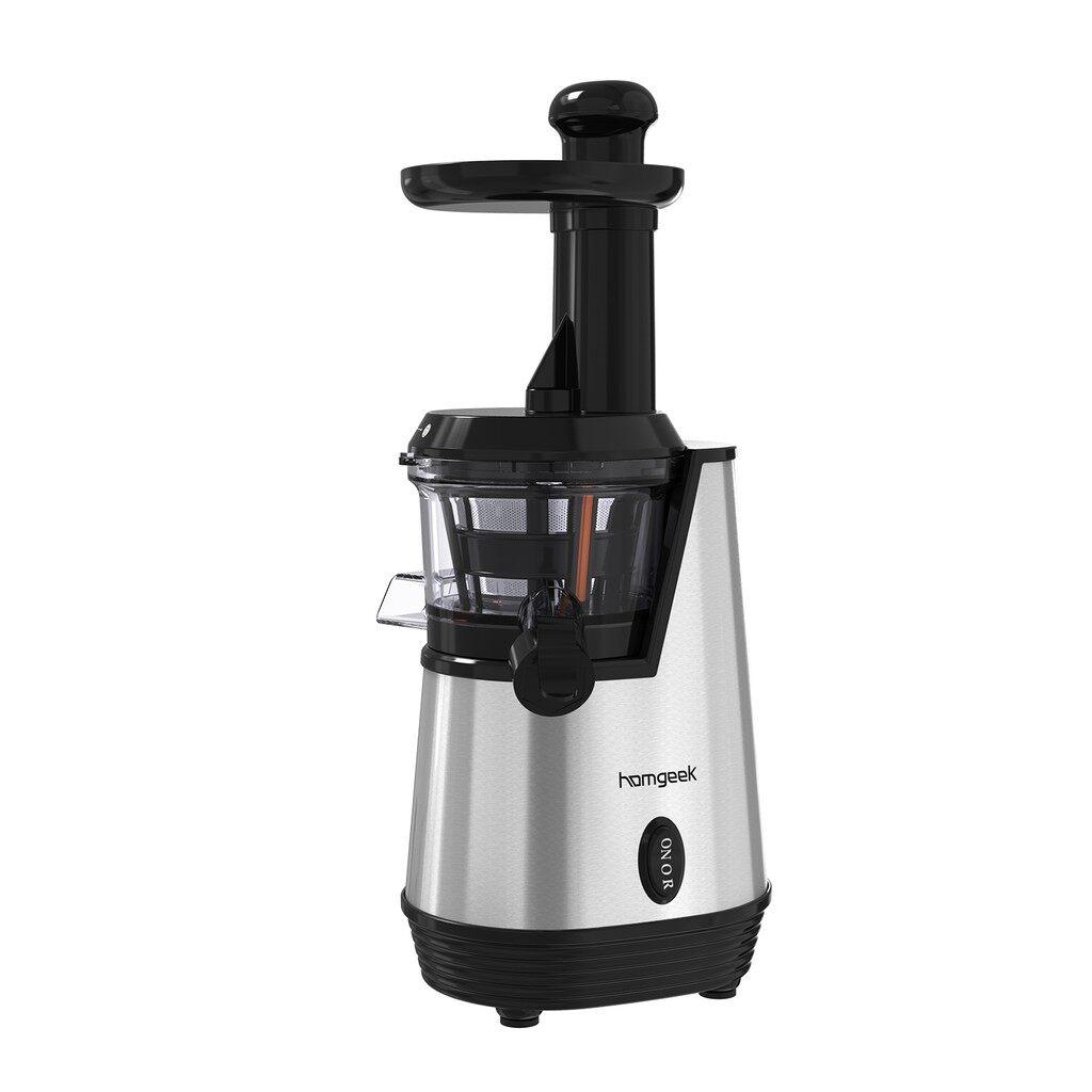Juicers & Fruit Extractors - Homgeek 120V Slow Juicer Electric Juice Extractor Juice Maker Low Squeezer - Small Kitchen Appliances