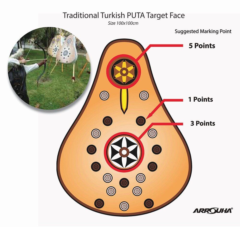 Arrouha Puta Turkish Target Face 100x100cm Traditional Archery
