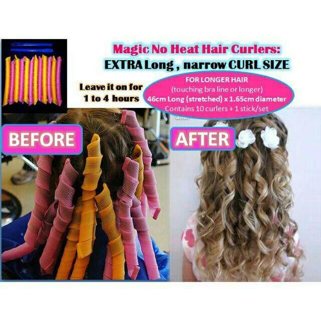 FREE GIFTMagic No Heat Hair Curlers