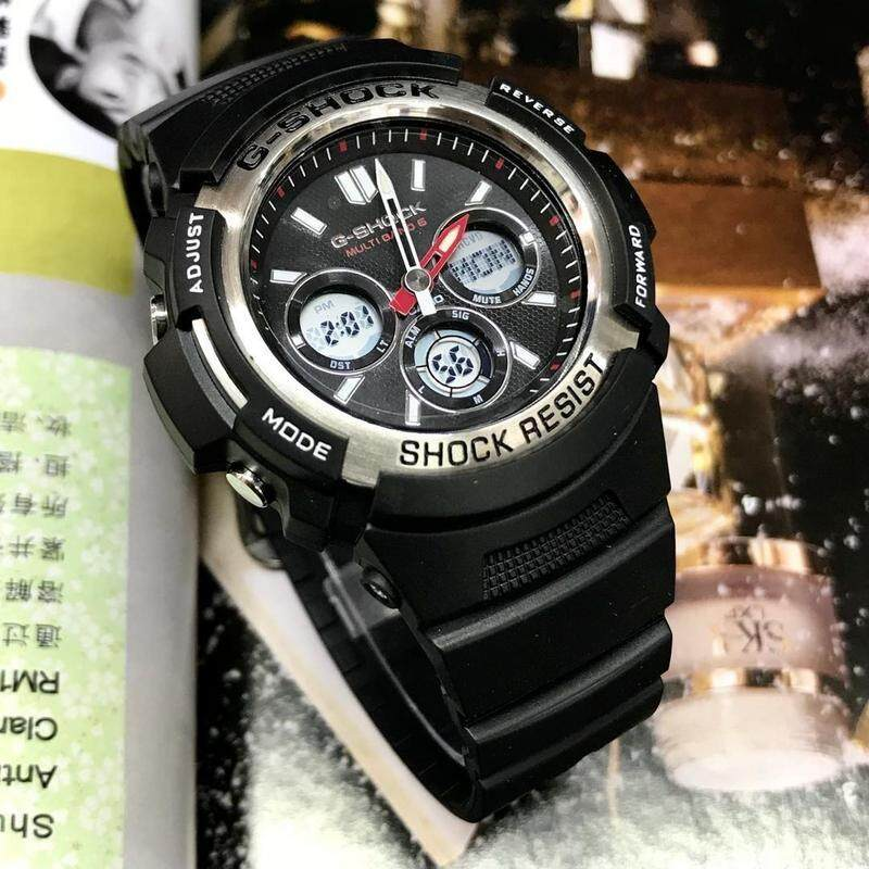 (Ready Stock) Original Casio G Shock_GA-110GB-1A Men Sport Watch Duo W/Time 200M Water Resistant Shockproof and Waterproof World Time LED Auto Light Wist Sports Watches GA110/GA-110 Black Gold