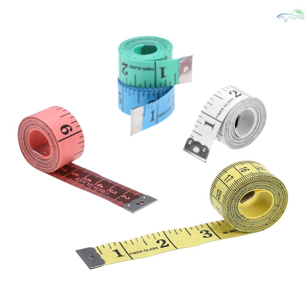 Lighting - 1500mm Color Soft Inch Tape Measure Sewing Tapes Measuring Tape Yellow&12mm - YELLOW&12MM / YELLOW&20MM / GREEN&12MM / GREEN&20MM / PINK&12MM / PINK&20MM / WHITE&12MM / WHITE&20MM / BLUE&12MM / BLUE&20MM