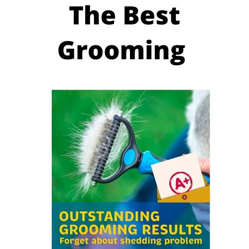 [ Local Ready Stock ] Pet Grooming Tool - Double Sided Undercoat Rake for Cats & Dogs Safe Dematting Comb for Easy Mats & Tangles Removing