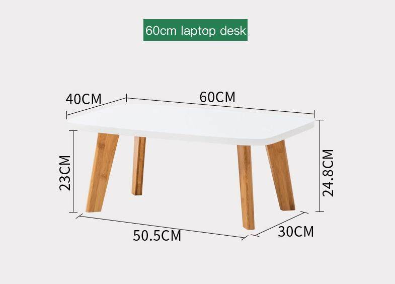 (FREE Delivery Klang Valley) Bamboo- Household Laptop Desk 60CM
