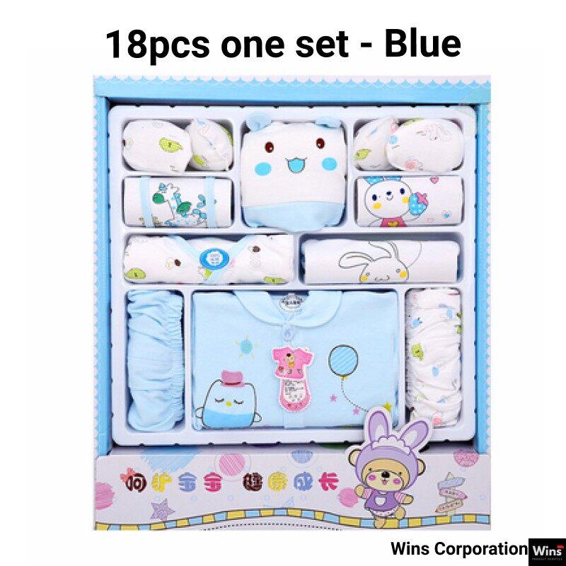 [0-8month] Baby Gift Baju Baby Cotton Newborn Gift Box (18pcs set)