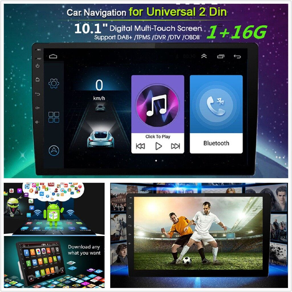 Vehicle Speakers & Subwoofers - 2 Din 10.1 FM AM Radio Video DAB GPS Aux USB MP3 Android 8.1 Car Stereo - Car Electronics