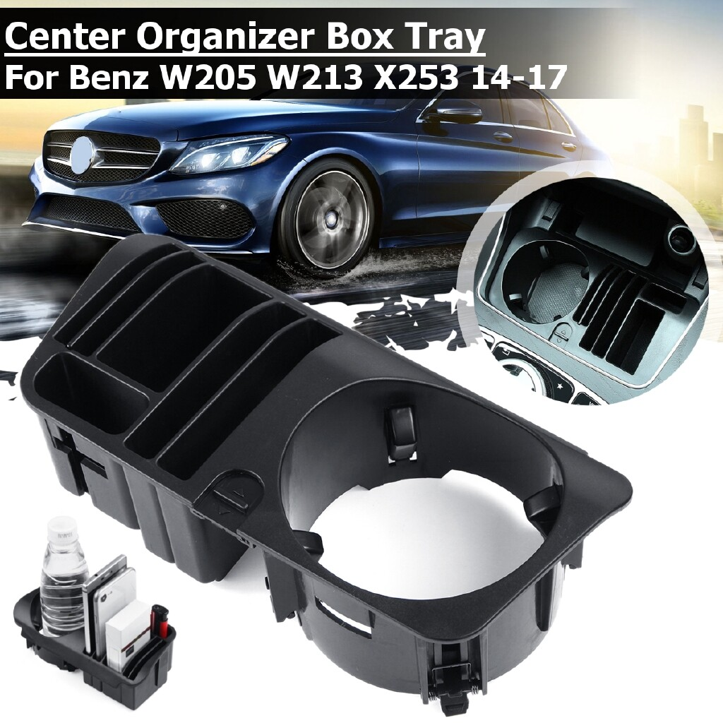 Organizers - Center Console Armrest Organizer Box Tray For Benz W205 W213 X253 2014-2017 - Car Accessories