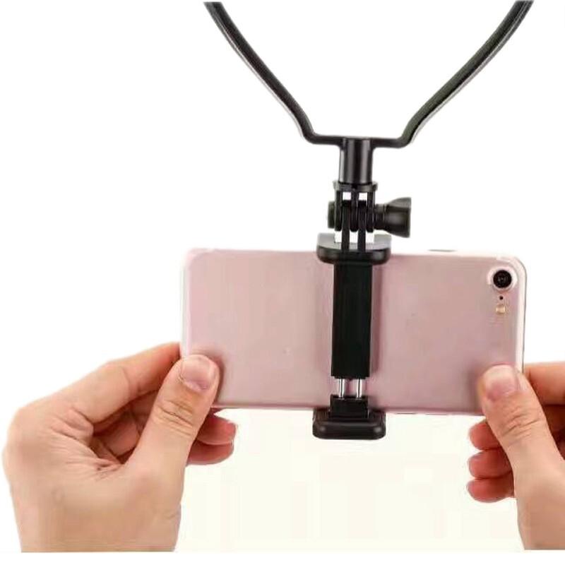 Phone Holder & Stand - BIKIGHT Universal Phone Holder Hanging Neck Neck Self - WHITE / BLACK