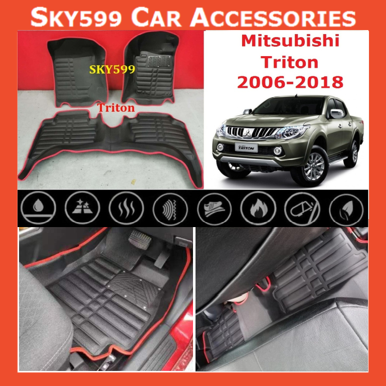 Mitsubishi Triton 2006-2020 5D Car Floor Mat/Carpet