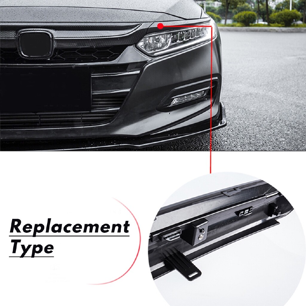 Car Lights - Carbon Fiber Color Sport Style Sedan Front Grille For 18-19 Honda Accord 4Dr - Replacement Parts