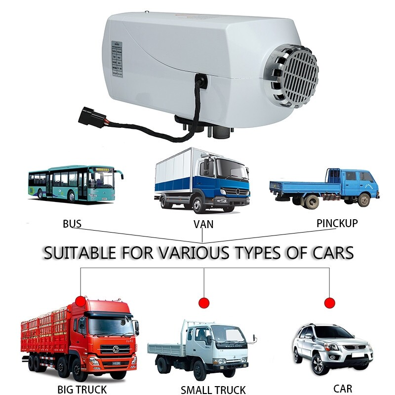 Engine Parts - 12V 5KW Diesel Air Heater Tank Silencer Duct Thermostat Caravan Motorhome RV zhibinoppa - Car Replacement