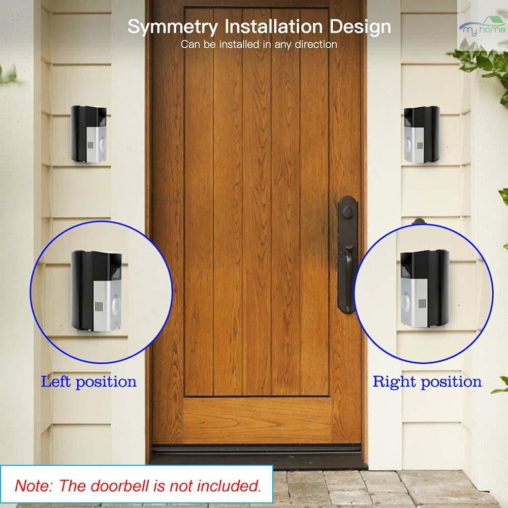Monitors - Adjustable Angle (30 to 55 degree freely) Doorbell Mount Bracket for Ring Video Doorbell 2 Angle - #