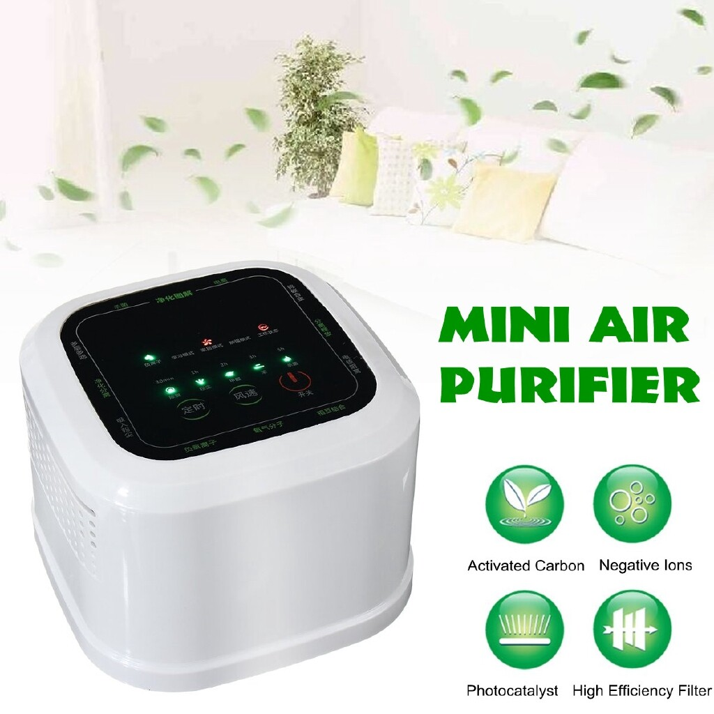 Humidifiers & Air Purifiers - MINI Air Purifier Ozone Generator Ionizer Cleaner Odor Remover Deodorization - Cooling Heating