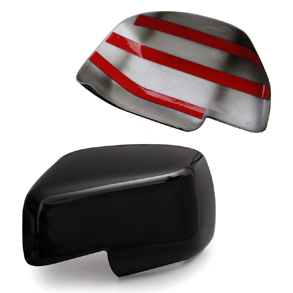 Automotive Tools & Equipment - Pair Wing Mirror Covers Caps Gloss Black For Land Rover Discovery 3 Freelander 2 - Car Replacement Parts