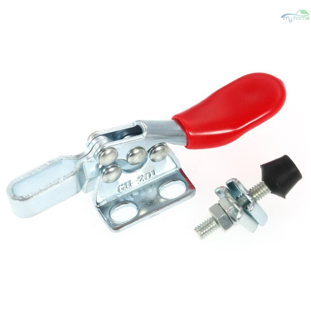 DIY Tools - Hand Tool Toggle Clamp GH-201 Antislip Red Horizontal Clamp GH-201 Quick Release Tool - SILVER