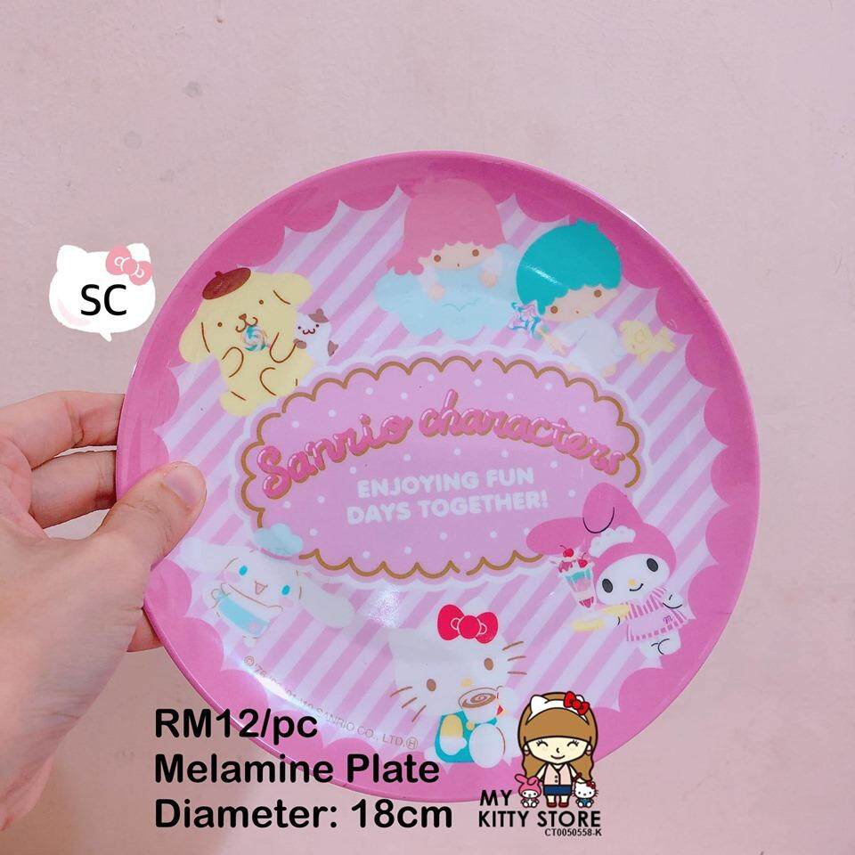 Sanrio Characters Hello Kitty My Melody Melamine Plate Snack Plate Dessert  Plate