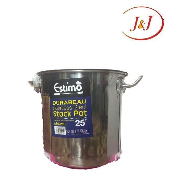 ESTIMO Durabeau Stainless Steel Stock Pot, 25cm