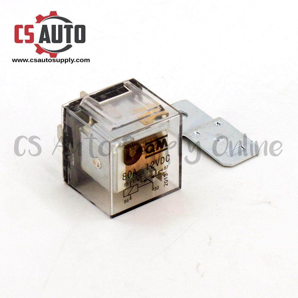 [CS auto] Relay 12V 5 Pin 40A Universal + Metal plate ( 2 PCS ) ready stock ( Printing Error )