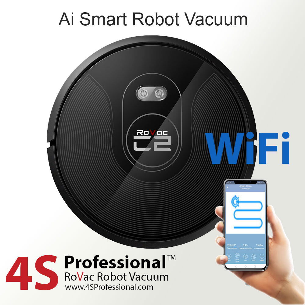 RoVac C2 Robot Vacuum by 4S Professional with Wifi Mapping App Control / Vacuum and Mopping Cleaner