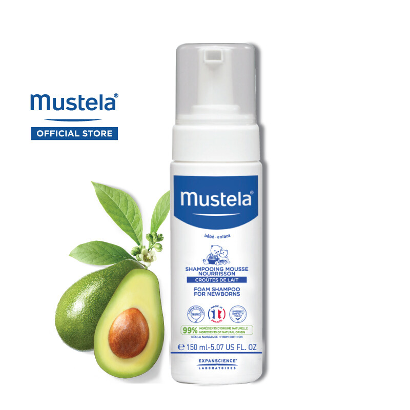 MUSTELA Foam Shampoo for Newborns for All Skin Types (150ml)