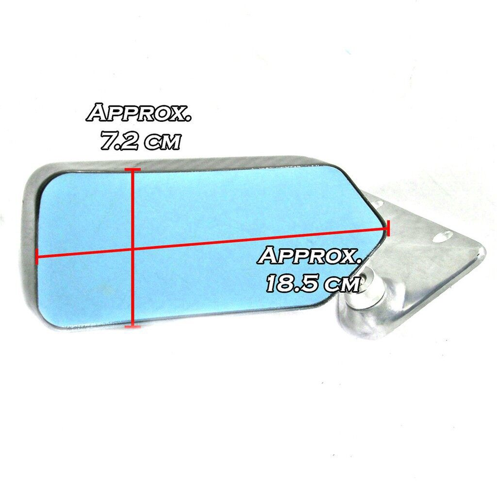 Automotive Tools & Equipment - Universal F1 Racing Car Drift Carbon Fiber Side Rearview Mirror Anti-glare B - Car Replacement Parts