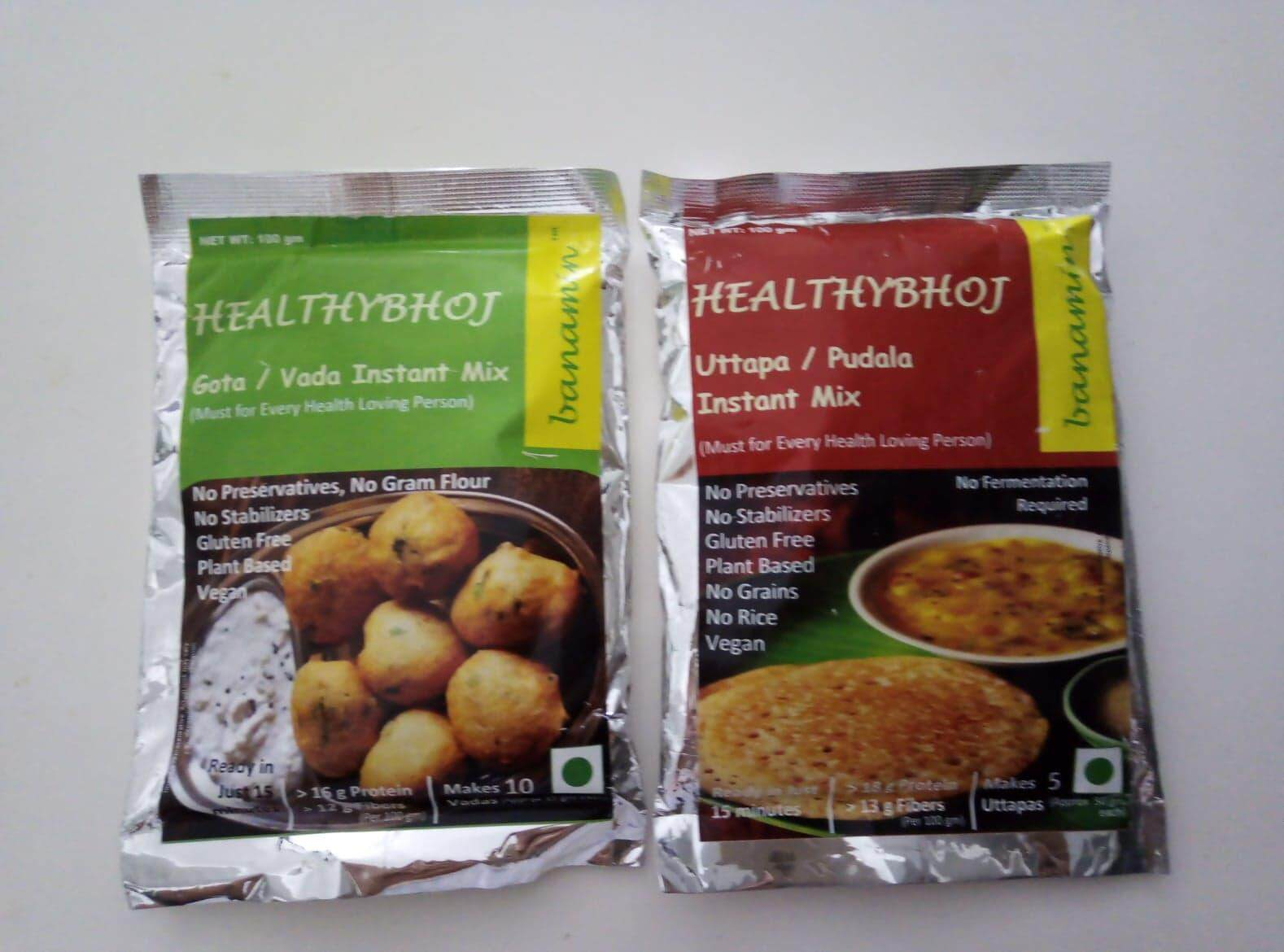 VEGAN GLUTEN FREE Vada / Vadai Instant Mix (100gm) AND Uttapa Instant Mix (NO RICE) (100gm) - HALAL CERTIFIED