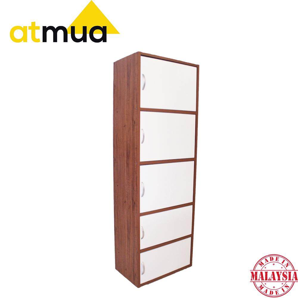 Atmua Champ 5 Door Bookcase Filling Cabinet Book Cabinet Storage Cabinet