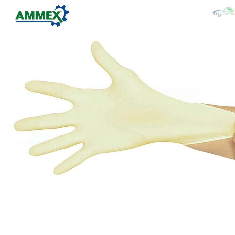 Protective Clothing & Equipment - Disposable Latex Gloves Home Industry Food Medical Gloves Thicken Rubber Gloves 100 PIECE(s)/pack - L / M / S