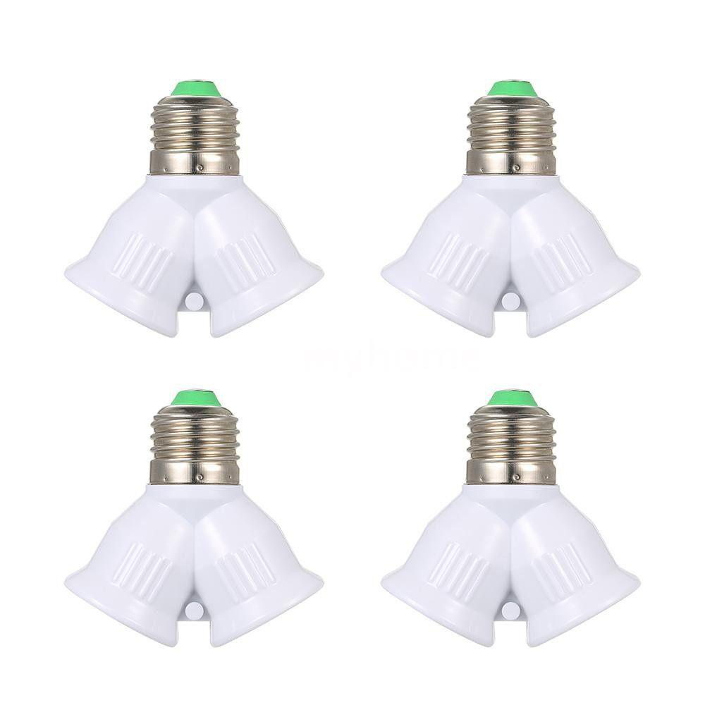 Lighting - E27 Male to 2 Female Y Shape LED Light Bulb Base Adapter Splitter Lamp Holder Socket - WHITE