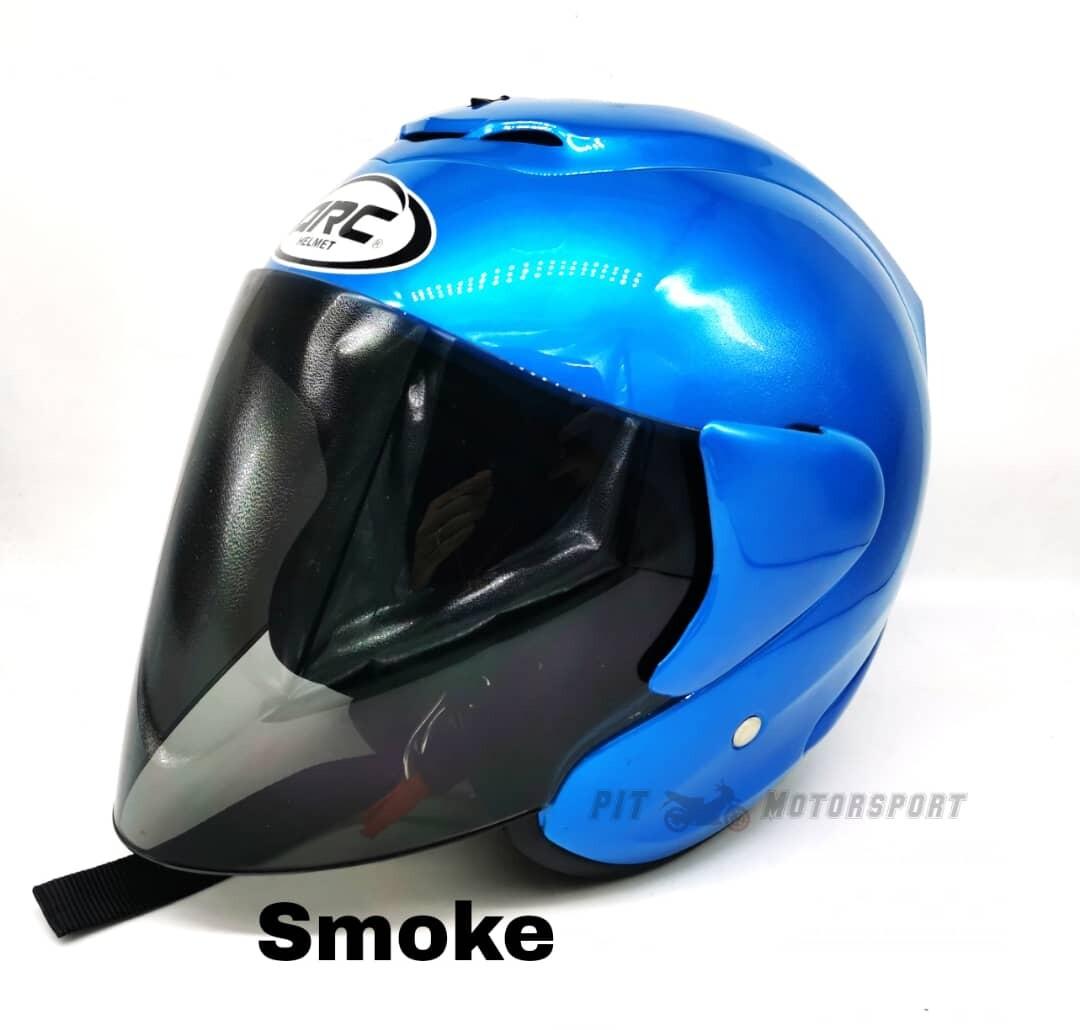 BLUE Helmet ARC RITZ Original Size L / XXL Add On Visor Clear / Smoke / Gold / Red / Blue / Rainbow