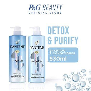 Pantene Micellar Detox & Purify Shampoo & Conditioner 530ML
