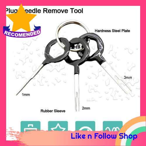Portable Stainless Steel Automobile Disassembly Tool Full Set Miniature Terminal Wiring Hardness Needle Remove Tool (Alk2386704)
