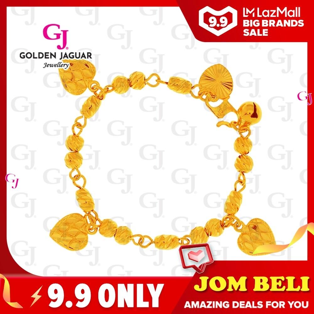 GJ Jewellery Emas Korea Bracelet - Bulan Sabit Ketumbar + Love Strawberry Kids (9260660-0)