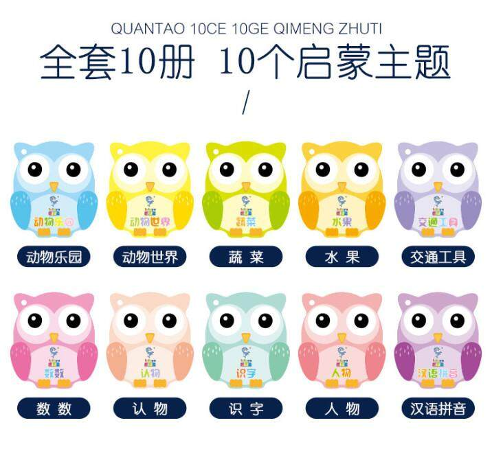 Learning Book Cute Owl design 10 book in 1 set