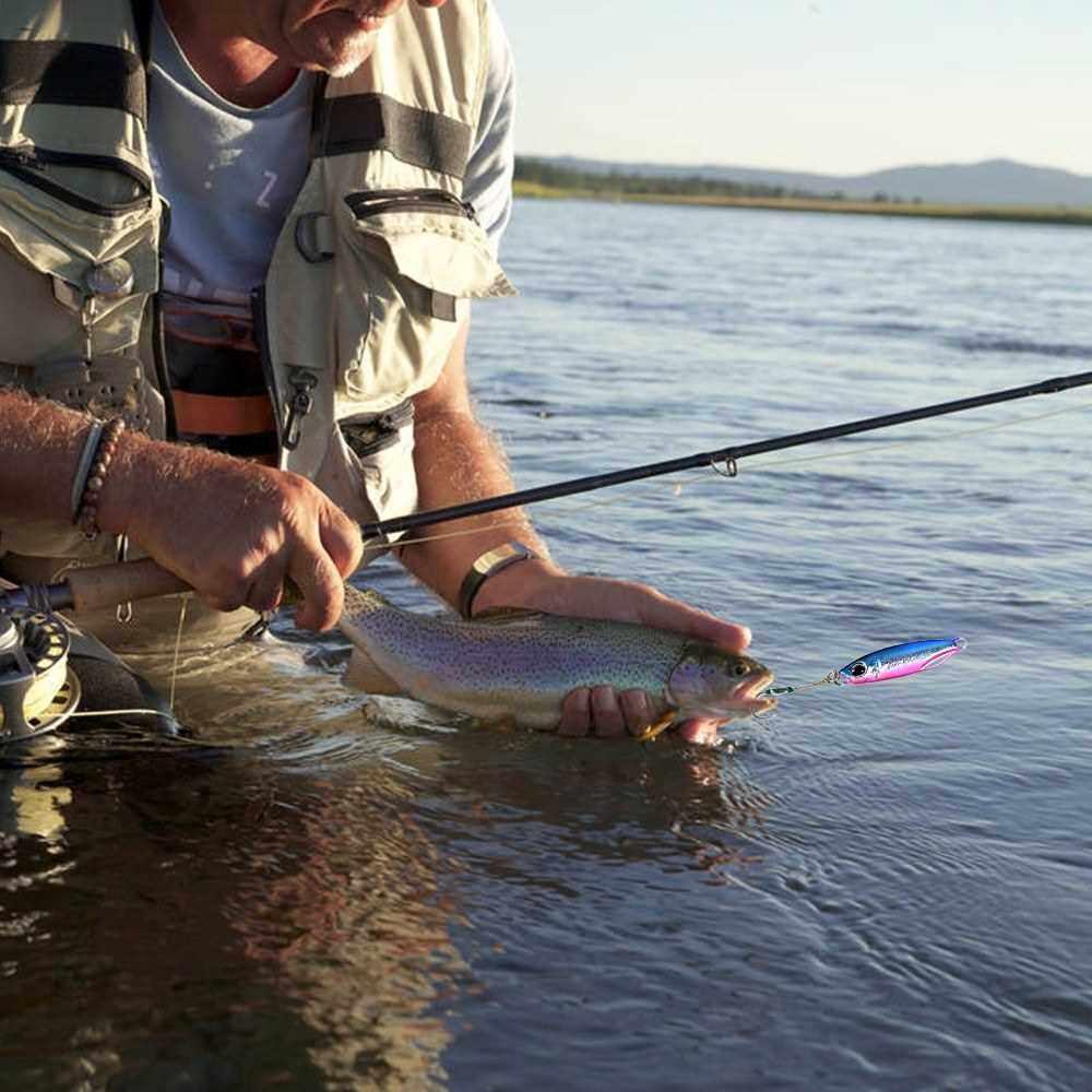 Metal Jig Spoon Lure 5cm 20g Artificial Bait Jigging Sinking Hard Lead Bait Bass Fishing Tackle (4)