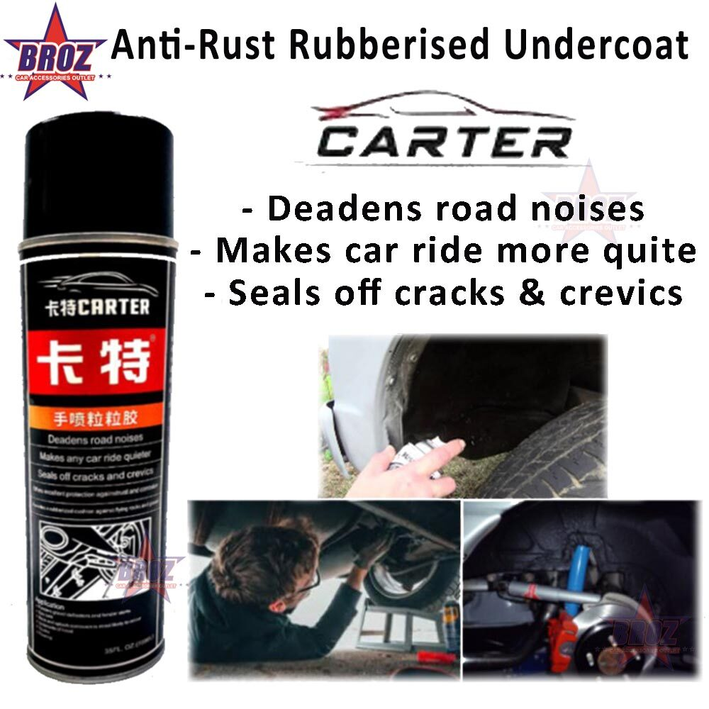 CARTER RUBBERRIZED UNDERCOAT 35FL.OZ.-700ML Deadens Road Noises, Makes Any Car Ride Quite, Seals Off Cracks & Crevices Anti Rust
