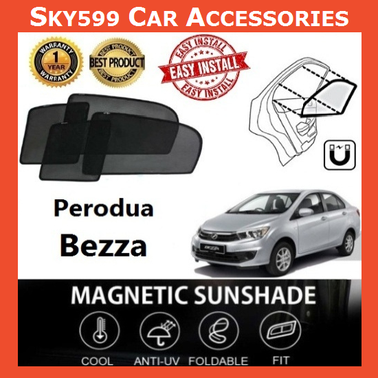 Perodua Bezza Magnetic Sunshade ?4pcs?