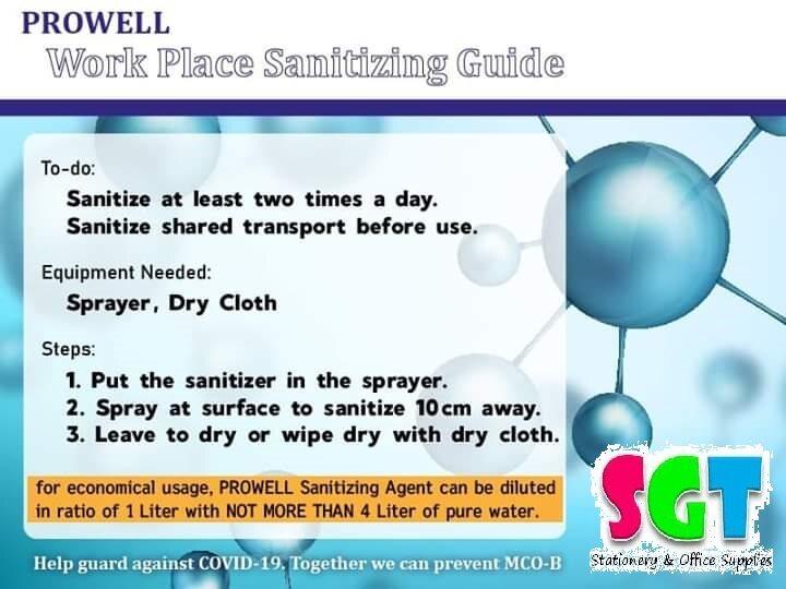 PROWELL Disinfectant / Sanitizing Agent 消毒液 1000ML